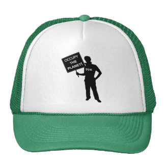 Occupy The Planet Sign Cap