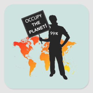 Occupy The Planet Sign Stickers