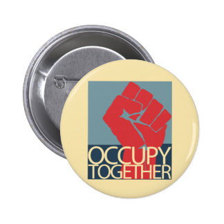 Occupy Together Protest Art Occupy Wall Street 6 Cm Round Badge