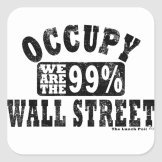 Occupy Wall Street 99% Square Sticker