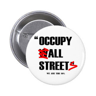 Occupy Wall Street All Streets We are the 99% Pin