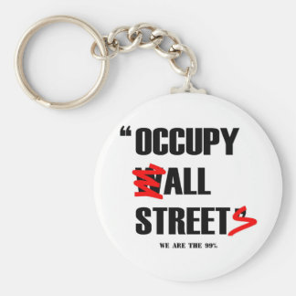 Occupy Wall Street All Streets We are the 99% Basic Round Button Key Ring