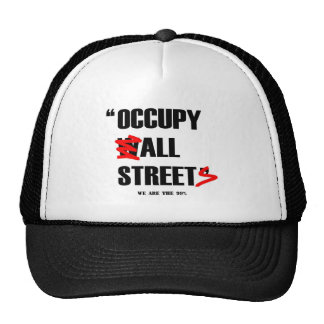 Occupy Wall Street All Streets We are the 99% Trucker Hats