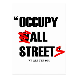 Occupy Wall Street All Streets We are the 99% Postcard