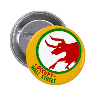 Occupy Wall Street Bull Buttons