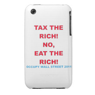 Occupy Wall Street, Eat the Rich Blackberry Curve  Case-Mate iPhone 3 Cases