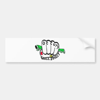Occupy Wall Street Fist Bumper Sticker