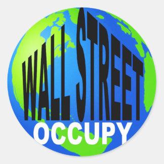 Occupy Wall Street Global Round Sticker
