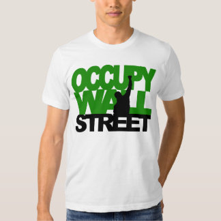 OCCUPY WALL STREET Green Shirts
