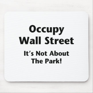 Occupy Wall Street -- It's Not About the Park! Mouse Pad