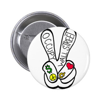 Occupy Wall Street Peace Pins