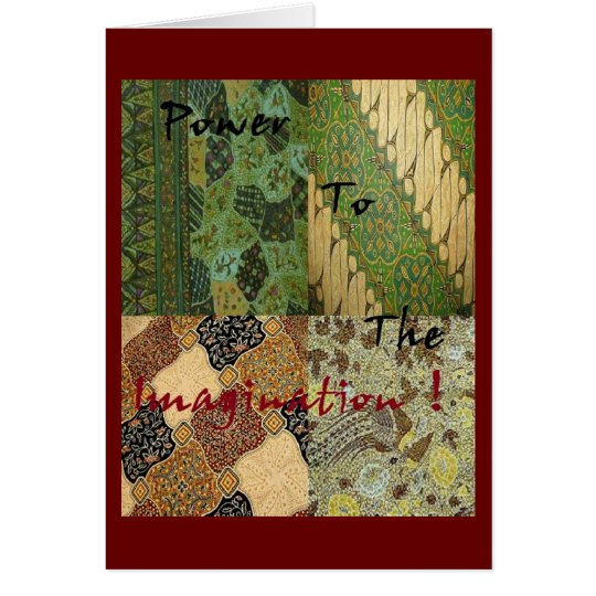 Occupy Wall Street- Power to the Imagination Card