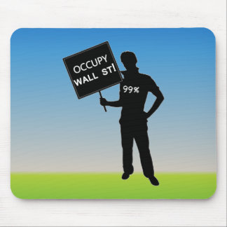 Occupy Wall Street Sign Mouse Pads