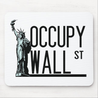 Occupy Wall Street -Statue of Liberty Mouse Mat