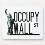 Occupy Wall Street -Statue of Liberty Mousepads