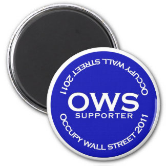 Occupy Wall Street Supporter Magnet