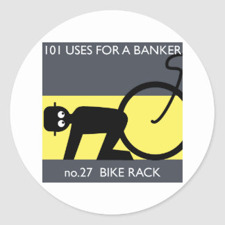 occupy wall street - take your bike! classic round sticker