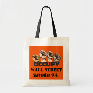 OCCUPY WALL STREET BUDGET TOTE BAG