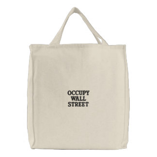 Occupy Wall Street Tote Embroidered Bags