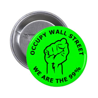 Occupy Wall Street, We Are The 99% Buttons