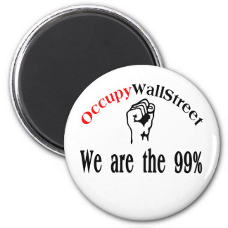 Occupy Wall Street - We are the 99% Refrigerator Magnets