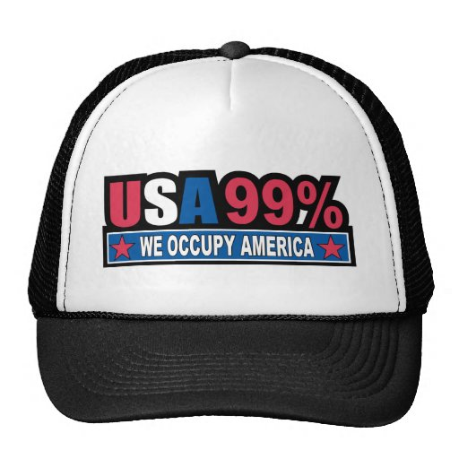 Occupy Wall Street ... We Are The 99% Percent Hats