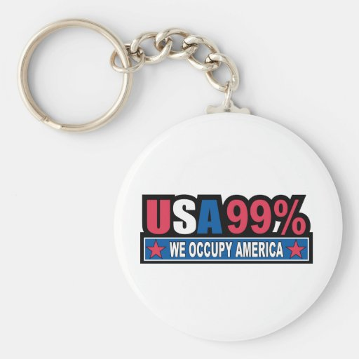 Occupy Wall Street ... We Are The 99% Percent Key Chains