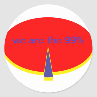 """occupy Wall Street we are the 99 percent"" Round Sticker"