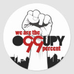 Occupy Wall Street - We are the 99 Percent Round Sticker