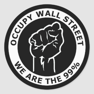 Occupy Wall Street, We Are The 99% Round Sticker