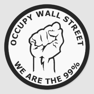 Occupy Wall Street, We Are The 99% Stickers