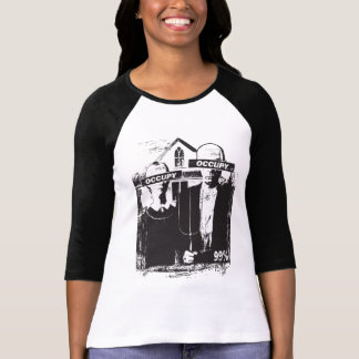 Occupy We Are The 99% American Gothic Womens Shirt