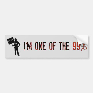 Occupy! We Are The 99% Bumper Sticker