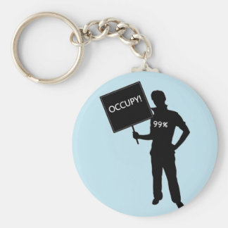 Occupy!  We Are The 99% Keychain
