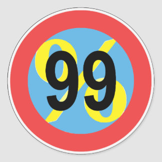 occupy - we are the 99% round sticker