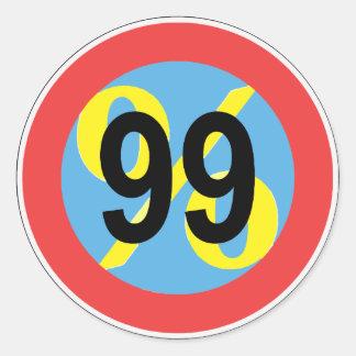 occupy - we are the 99% round sticker