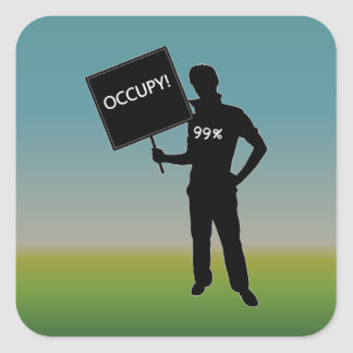 Occupy!  We Are The 99% Square Sticker