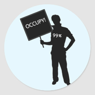 Occupy!  We Are The 99% Round Stickers