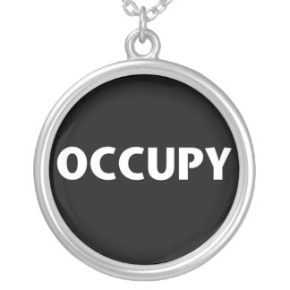 Occupy White on Black Pendants