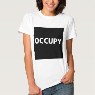 Occupy (White on Black) Tshirt