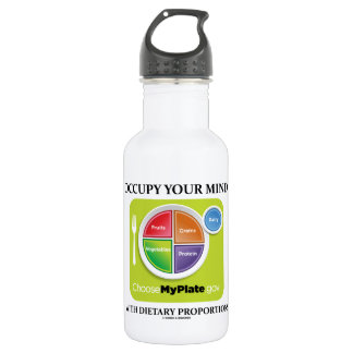 Occupy Your Mind With Dietary Proportions MyPlate 532 Ml Water Bottle