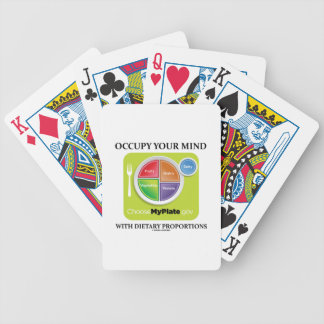 Occupy Your Mind With Dietary Proportions MyPlate Bicycle Poker Cards