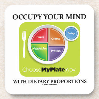Occupy Your Mind With Dietary Proportions MyPlate Beverage Coaster