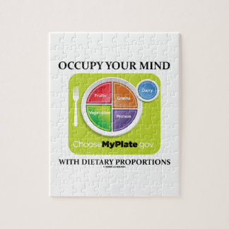 Occupy Your Mind With Dietary Proportions MyPlate Jigsaw Puzzle