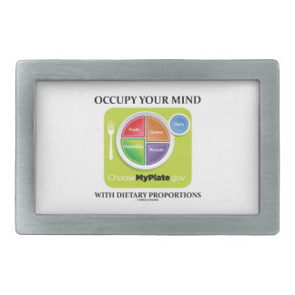 Occupy Your Mind With Dietary Proportions MyPlate Rectangular Belt Buckles