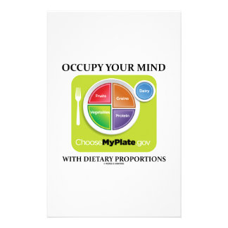 Occupy Your Mind With Dietary Proportions MyPlate Stationery