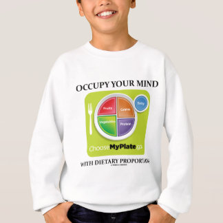 Occupy Your Mind With Dietary Proportions MyPlate Sweatshirt