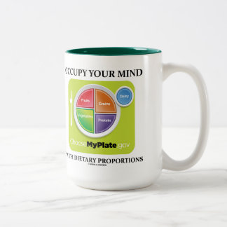 Occupy Your Mind With Dietary Proportions MyPlate Two-Tone Mug