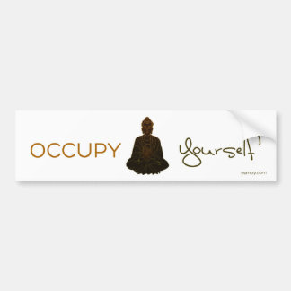Occupy Yourself Bumper Sticker