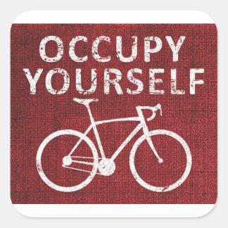 Occupy Yourself Square Sticker